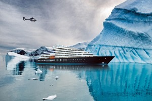 Artist's impression of Scenic Eclipse in Antarctica. The ultra-luxury, 228-passenger ocean ship is due to launch in ...