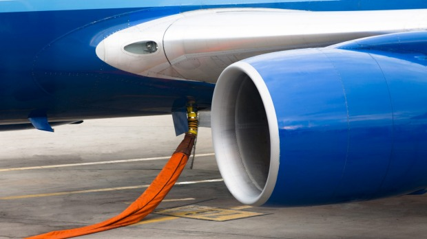 Fueling a  jet plane: the all-up weight is critical.