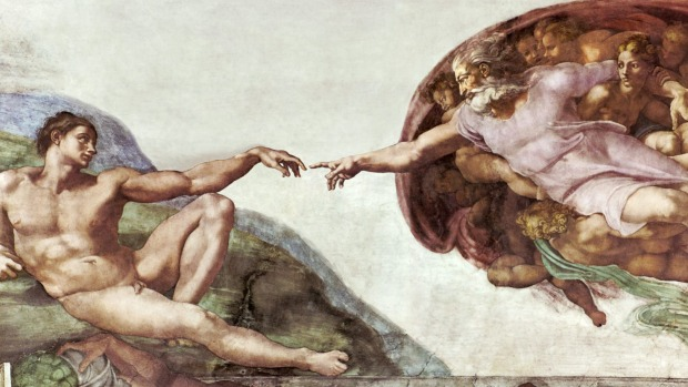 Michelangelo's magnificent frescoes in the Sistine Chapel.