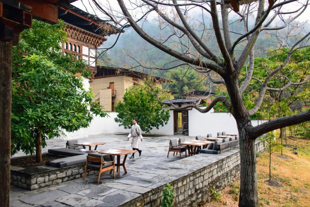 Punakha Lodge Courtyard Terrace.