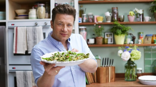 The face of TV cookery, Jamie Oliver.