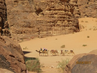 Standing in the desert of Wadi Rum I wonder while standing in the footsteps of Lawrence of Arabia that he found such ...