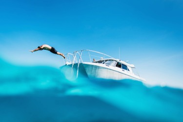Sunny days on the outer Great Barrier Reef with a private reef charter from Orpheus Island Resort, Queensland.