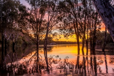 The sun sinking slowly over the mighty Murray River at Loxton in South Australia was just one of many amazing sights on ...