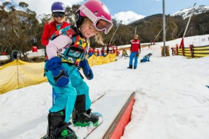 Skiing for the first time can be super overwhelming for kids.