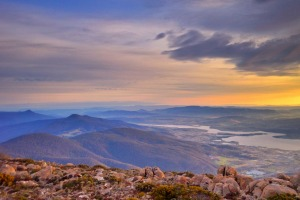 Shore excursion: A drive or bike ride to the summit of Mount Wellington is rewarded by expansive views over southern ...