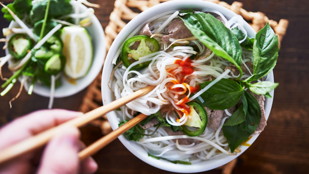 vietnamese pho with spicy sriracha sauce shot top down SatMay27covernew Credit: iStock BREAKOUT