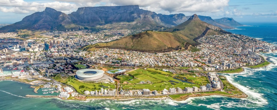 Cape Town and the 12 Apostels from above in South Africa SatMay27covernew Credit: iStock