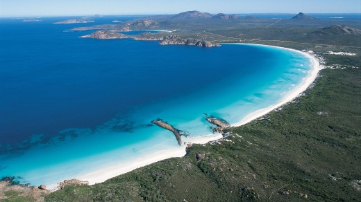 According to the National Committee on Soil and Terrain, you'll find the whitest sand here at Lucky Bay, Cape Le Grand, ...