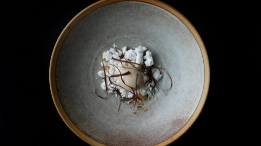 Brown butter ice cream at Aubergine.