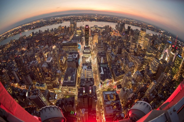 The magnificent view of NYC from the top of the Empire State Building.