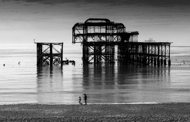 West Pier in Brighton, England was originally opened in 1866 but was shut in 1975 after being deemed unsafe.
