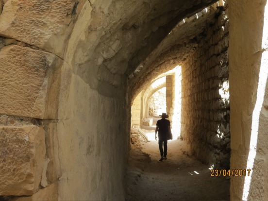 Walking with ghost of the Crusaders in the Al-Shobk Castle Jordon.