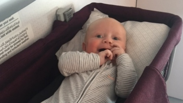 Mum's tips on flying solo with a baby on world's longest