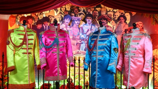 Sgt Pepper suits at The Beatles Story.