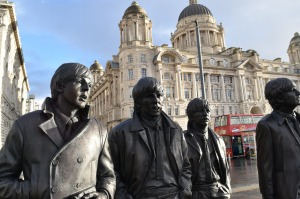 Beatles statue near the BME.