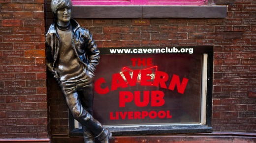 A statue of John Lennon outside the Cavern Club in Liverpool.