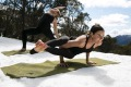 Snoga is the latest hybrid combining all things snow and yoga.