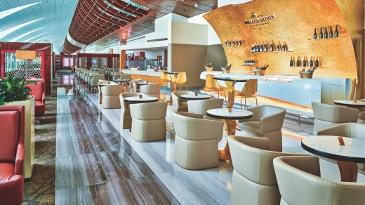 An Emirates business class lounge at Dubai Airport. Those flying on a special business class fare won't have access.