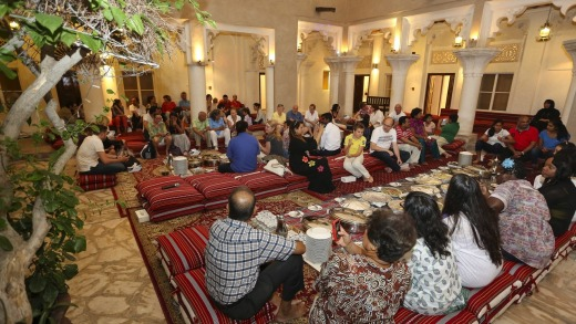 Cultural lunch at the Sheikh Mohammed Centre for Cultural Understanding.