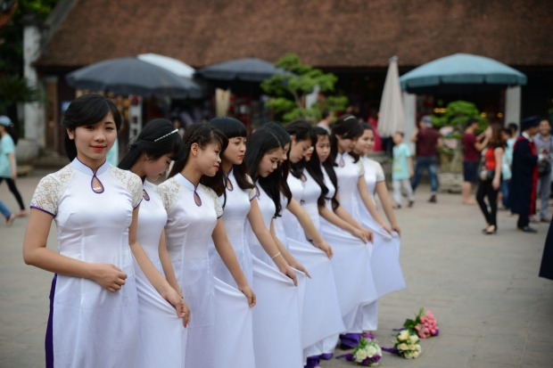 This palace in Hanoi is a popular location for locals to have graduation pictures taken.