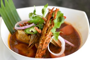 Sri Lankan crab curry.