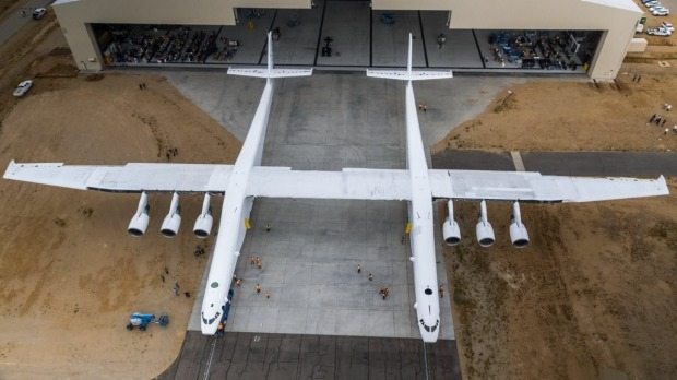 With a wingspan longer than a football field, Stratolaunch, the world's largest plane has arrived.