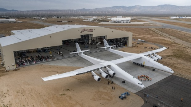 With twenty-eight wheels, six 747 jet engines, Stratolaunch, is the world's largest plane.