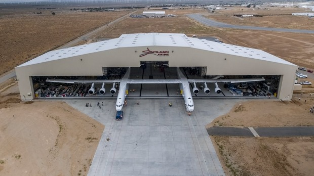 For the first time ever, the Stratolaunch aircraft moved out of the hangar to conduct aircraft fueling tests. This marks ...
