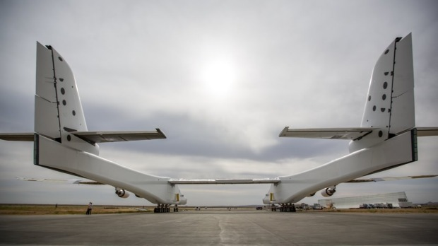 Stratolaunch has a wingspan longer than a football field.