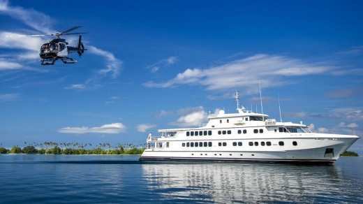 North Star Cruises' ship True North in PNG for Abercrombie & Kent.