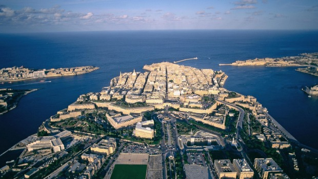 Valletta's magnificent harbour.