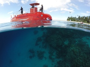 "Outrigger Konotta offers trips on what it describes as a ""semi-submarine"", which is, as the name suggests, a novel ..."