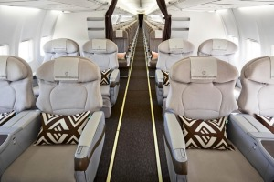 Fiij Airways business class has just eight seats.