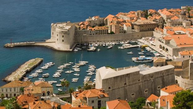 The marina and Old Town of Dubrovnik.