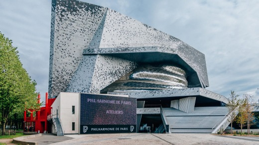The Philharmonie de Paris is a cultural institution located in the Parc de la Villette.