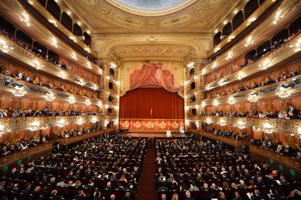 The Colon theatre in Buenos Aires, Argentina.