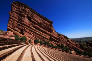 Creation rock at the Red Rocks Amphitheater in Colorado.