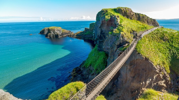 The rope bridge at Carrick-a-Rede.