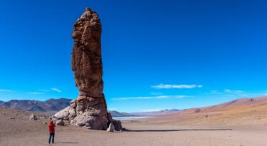 "En route to Salar de Tara, our first off-the-road stop was the ""Monks of Pacana"", a naturally formed gigantic sculpture ..."