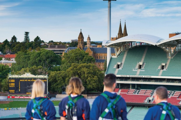 We are right on top of part of Adelaide Oval's $535 million redevelopment, an achievement so pitch perfect that in 2015 ...