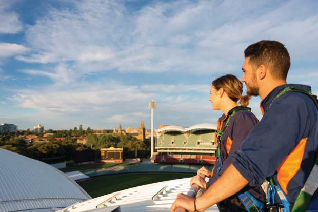 The Adelaide Oval view will hit you for six.