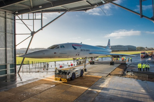 The Concorde at its final home at Aerospace Bristol.
