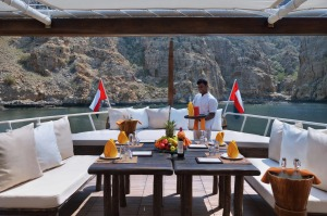 Enjoy a getaway in a classic dhow from the Six Senses Zighy Bay hotel in Oman.