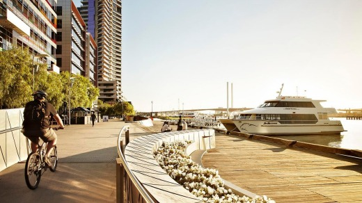 Step out of the Four Points for a pleasant waterfront walk.