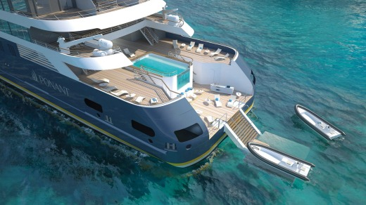 The new Blue Eye lounge will available on Ponant's fleet of four new luxury yachts.