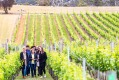 Visitors take a stroll at Home Hill Winery.