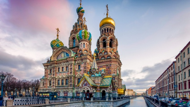The Church of the Savior on Spilled Blood is one of the main sights for visitors to St Petersburg, Russia.