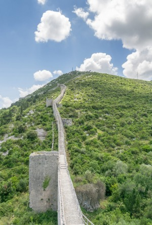 "The medieval Walls of Ston, known as the ""European Wall of China"", built to defend the salt pans that still operate today."