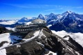 The Piz Gloria at the top of the Schilthorn.